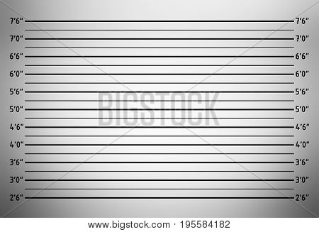 Police lineup or mugshot background (inch unit)