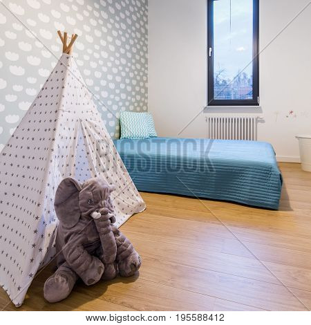 Cozy Child Room With Bed