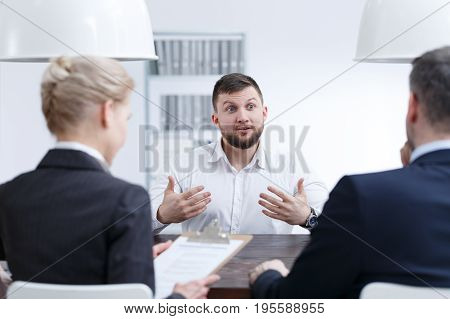 Man Speaking About His Skills