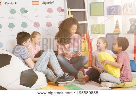 Kids In Language School