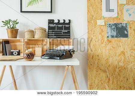 Hygge Interior Design With Wooden Desk