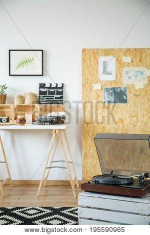 Hipster Interior With Gramophone