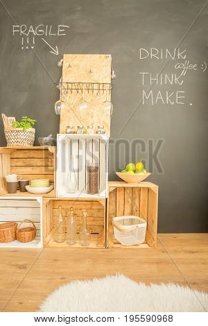 Minimalist Interior With Diy Storage Units