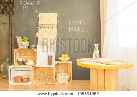 Hipster Minimalist Dining Room