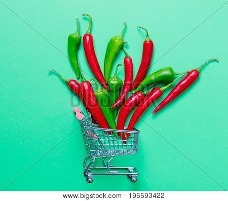 Chili Pepper And Shopping Cart