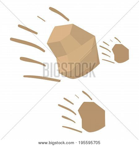 Throwing stones icon. Cartoon illustration of throwing stones vector icon for web