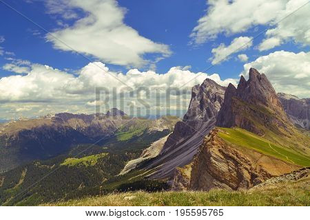 Seceda mountain in the Dolomites Italy Europe