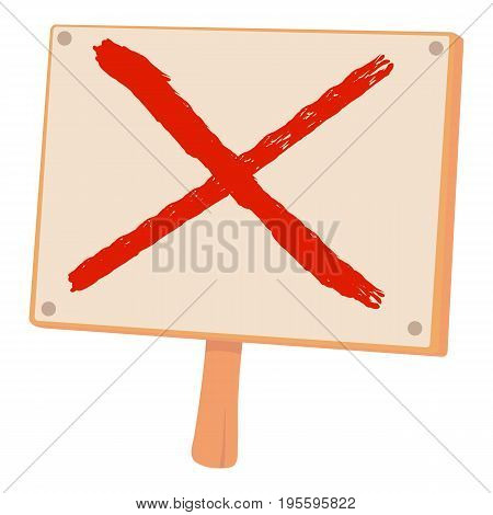 Cross sign icon. Cartoon illustration of cross sign vector icon for web