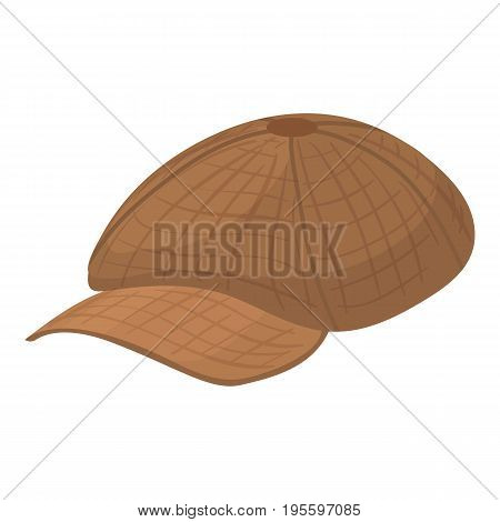 Peaked cap icon. Cartoon illustration of peaked cap vector icon for web