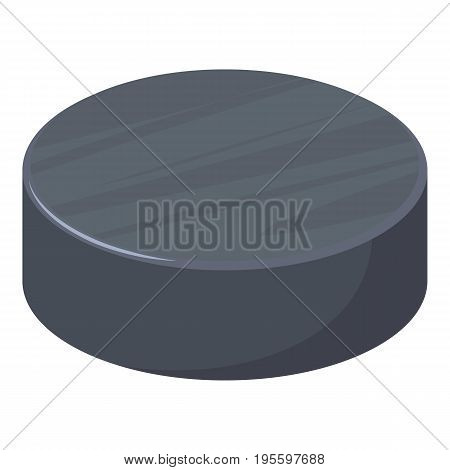 Hockey puck icon. Cartoon illustration of hockey puck vector icon for web