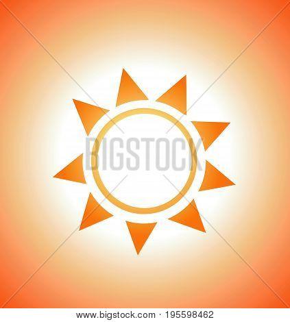 Vector illustration of sunrise sun summer art