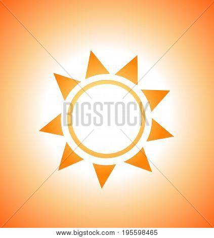 Abstract illustration of sunrise sun summer art