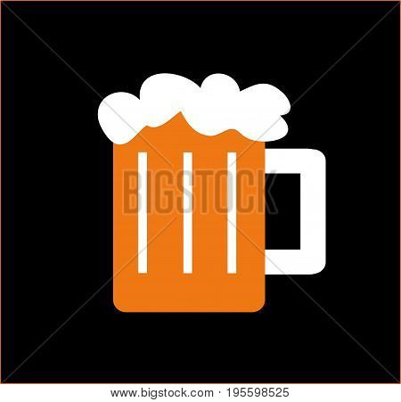 illustration of a fresh glass of beer