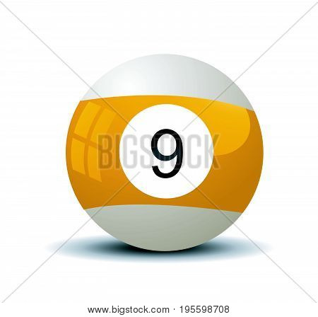 Pool ball vector illustration on white background