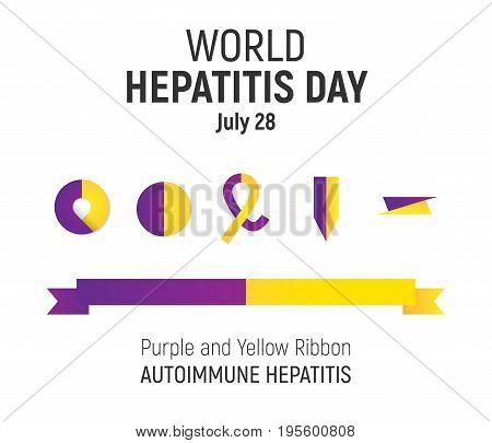 World Hepatitis Day, July 28, Vector Design