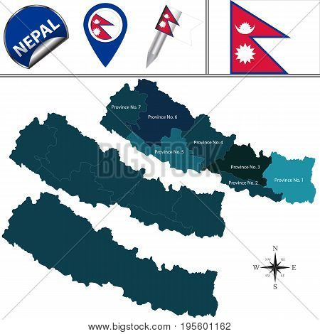 Map Of Nepal With Provinces