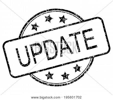 black Update rubber stamp on white background - illustration