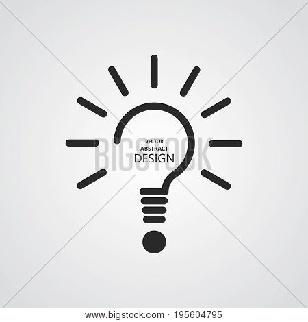The stylized lamp and question mark.Monochrome icon.Concept of the idea innovation necessary decision.Vector illustration.Minimalism.