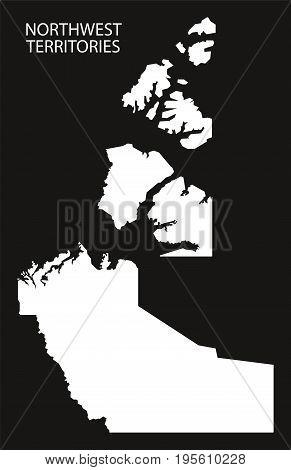 Northwest Territories Canada Map Grey