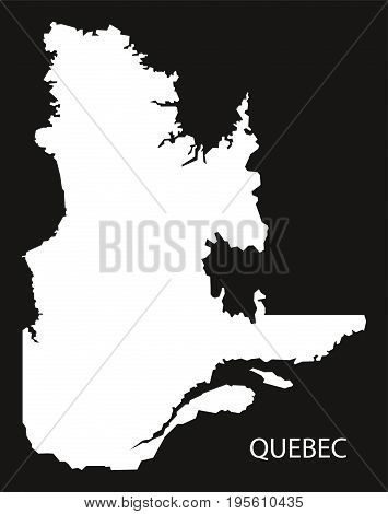 Quebec Canada Map Black Inverted Silhouette Illustration Shape
