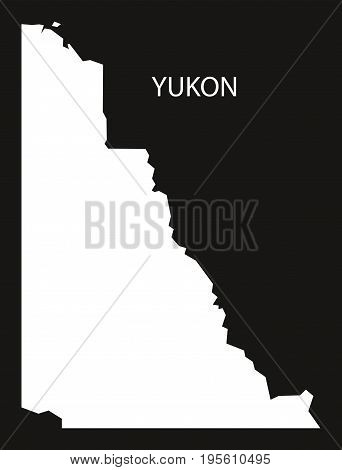 Yukon Canada Map Black Inverted Silhouette Illustration Shape