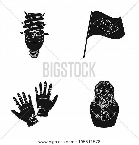 ecology, travels and or  icon in black style.Hippodrome, Russia icons in set collection.