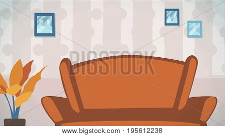 Home livingroom background Vector for cartoon, animation, advertise, campaings