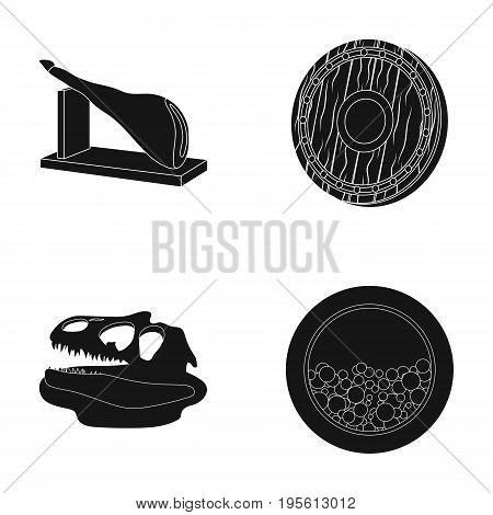 archeology, history and or  icon in black style. electrical appliance icons in set collection.