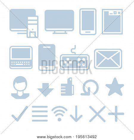 Internet technologies icon set. Vector illustration EPS8