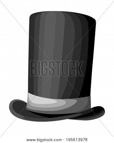Black Gentleman Hat Cylinder Hat Vector Illustration Web Site Page And Mobile App Design Vector Elem