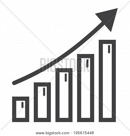 Business growth line icon, business and financial, vector graphics, a linear pattern on a white background, eps 10.