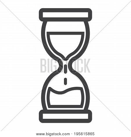 Hourglass line icon, business and deadline, vector graphics, a linear pattern on a white background, eps 10.