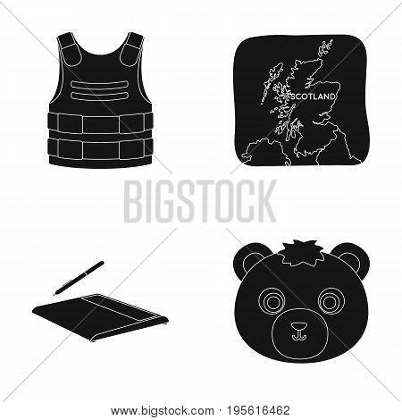 animal, travel and or  icon in black style.technology , army icons in set collection.