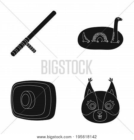 animal, history and or  icon in black style. lighting, Rule of law icons in set collection.