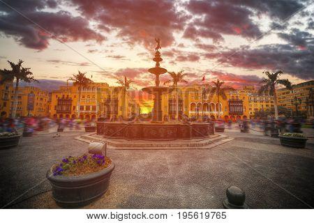 Lima The Capital Of The Republic Of Peru