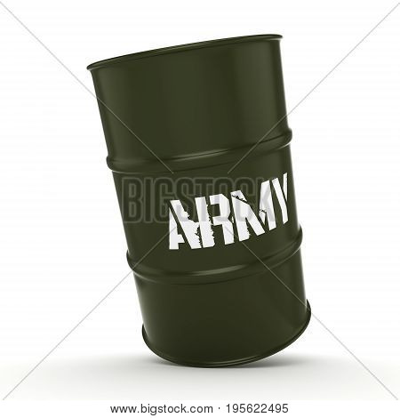 3D Rendering Army Barrel