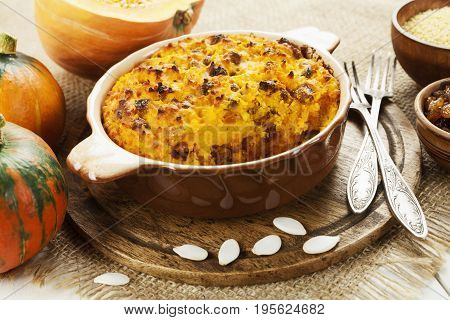 Pumpkin Casserole With Millet