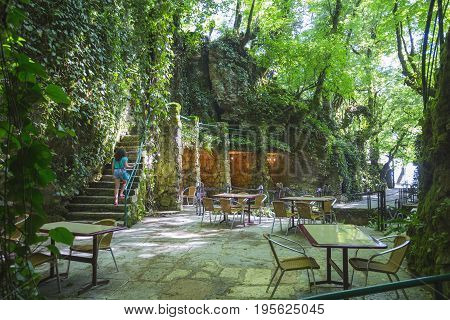 Restaurant In The Gorge Of Abkhazia
