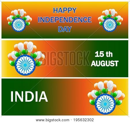 Independence Day Sale Banner set, Sale Header with Extra Discount Offer, Creative vector illustration in National Flag colour Concept for Independence Day celebration.