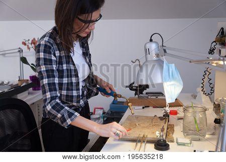 Goldsmith At Work