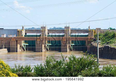 Dam Of Hydroelectric Plant Of Santo Antonio In Porto Velho