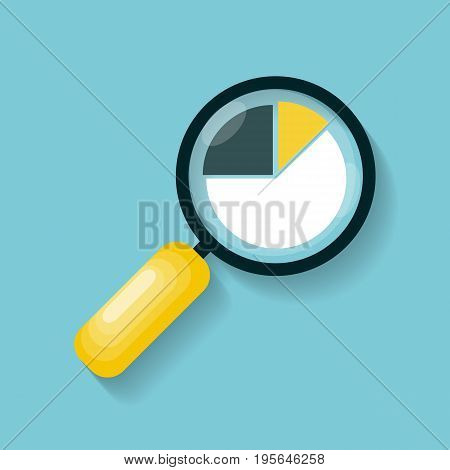 Magnifying Glass Icon in Modern Flat Style Vector Illustration EPS10