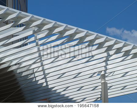 The second white canopy with functional design appears in downtown Dallas.