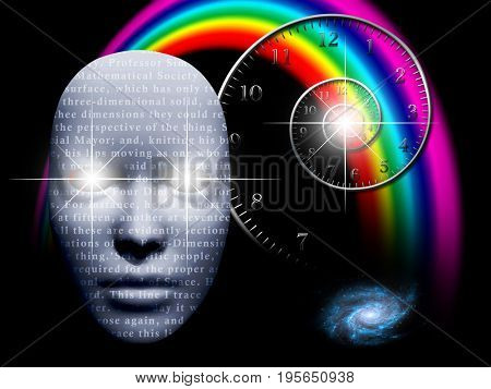 Mask with tech stock and time Spiral   Some elements provided courtesy of NASA
