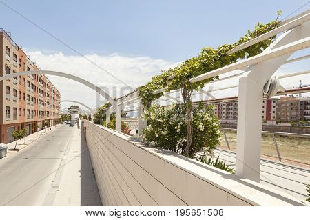 Street at the Guadalentin river in Lorca. Province of Murcia southern Spain