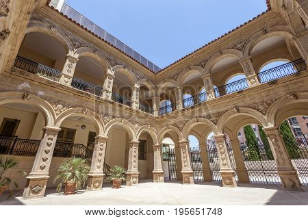 Historic convent of La Merced in the old town of Lorca. Province of Murcia Spain