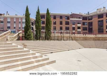 Square in the city of Lorca. Murcia province Spain