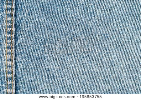 Jeans texture background with seams. Abstract background empty template.