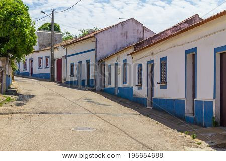 Typical Houses in Cercal village Alentejo Portugal