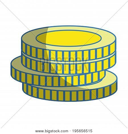 coins cash money to financial economy vector illustration
